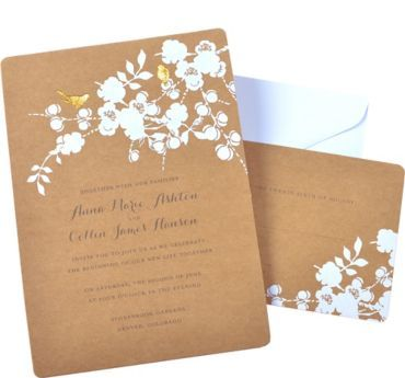 Metallic Gold Rustic Arrow Printable Wedding Invitations Kit 30ct   Party  City