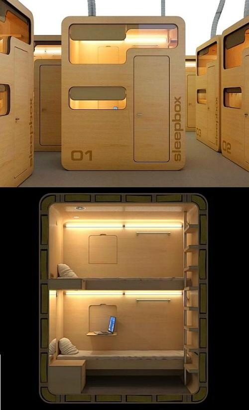 Sleep Box-this would be fantastic to have for renting in an airport!