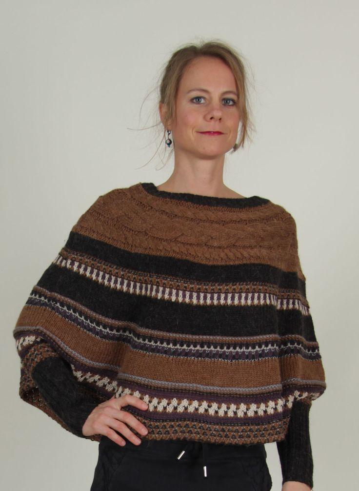 Noa Noa - Winter - Poncho, Traveller Knit, phantom - ey Linda Online Shop