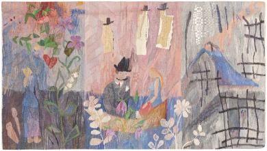 Vintage Scandinavian Tapestry 46539 Main Image - By Nazmiyal