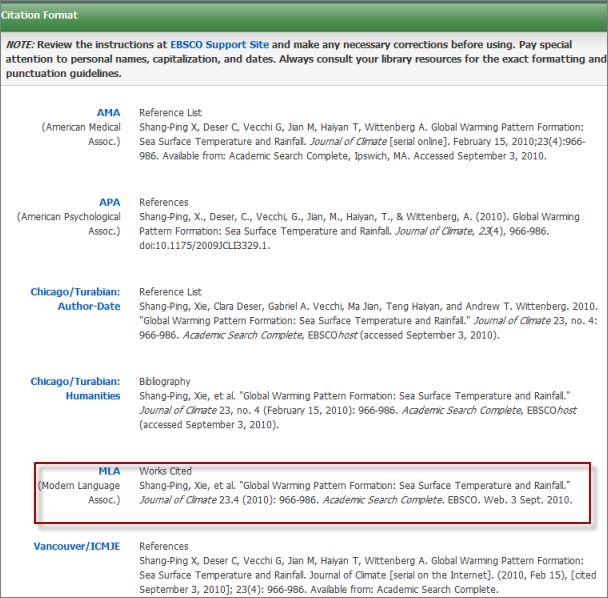 APA, MLA and Chicago citation generator, Citefast.