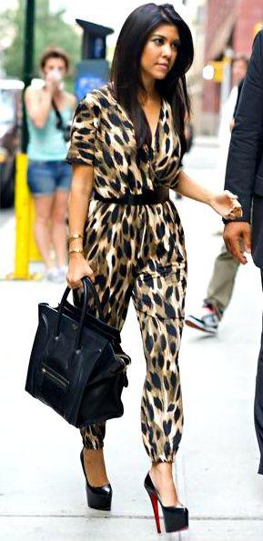 Love!!!!!!!: Fashion, Leopard Print, Kardashians, Kourtney Kardashian, Style, Outfit, Kourtneykardashian, Animal Prints, Jumpsuits