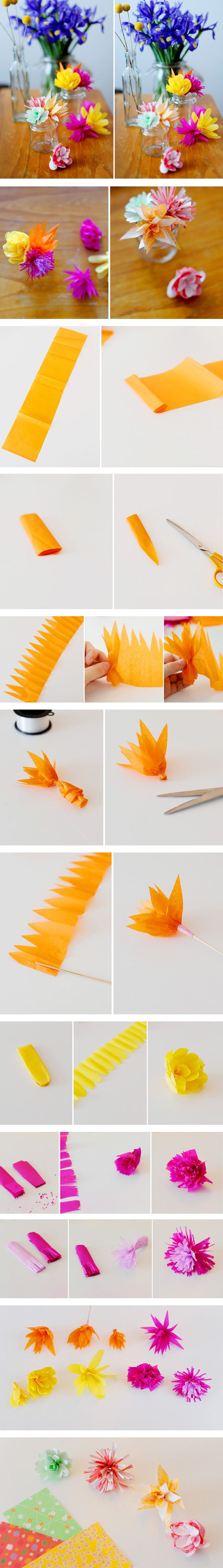 best DIY Flower images on Pinterest  Paper flowers Crafts and