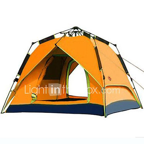 CAMEL 3-4 persons Tent Double Camping Tent One Room Automatic Tent Windproof Oxford Ultraviolet Resistant Rain-Proof for Hiking Green Blue Orange - CAD $88.95 ! HOT Product! A hot product at an incredible low price is now on sale! Come check it out along with other items like this. Get great discounts, earn Rewards and much more each time you shop with us!