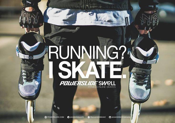 Running? I skate. Powerslide Swell Fitness Inline Skates #skate #fitness #fit #shape #trainig #easy #happy
