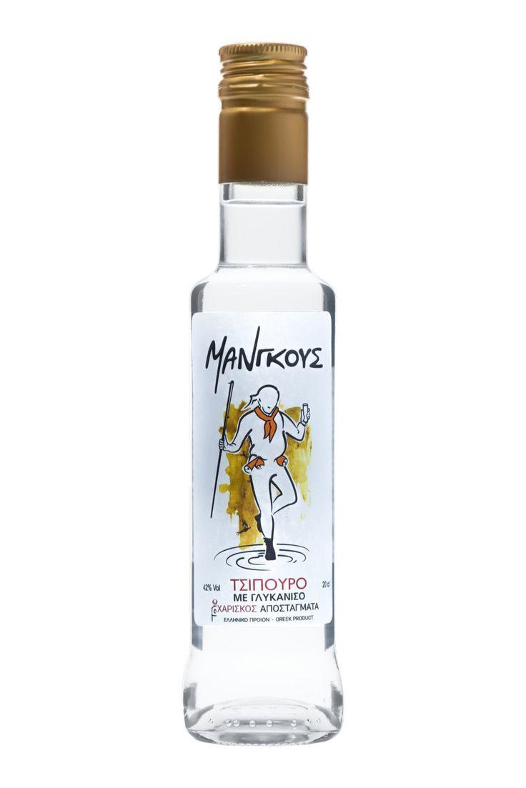 Τσίπουρο Μάνγκους με γλυκάνισο - 200 ml 42% vol. - Tsipouro Mangoos with anise