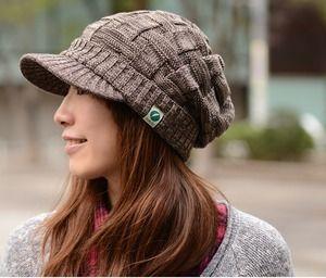 クロス編みが頭の形を良く見せてくれるニットキャスケット(*⌒∇⌒*)|レディース帽子コレクション日記