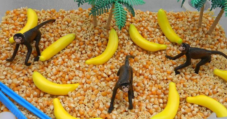 Monkey see Monkey do? for sure when it comes to these toddlers Ha-ha This months sensory bin is all about monkeys and inspired by 5 li...