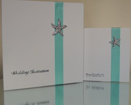 ReSpoke Boutique. Starfish sytle wedding invitations
