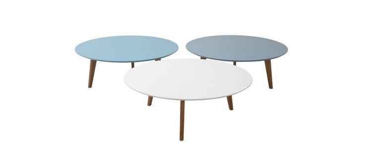 Table basse ronde 100cm blanc EKKA