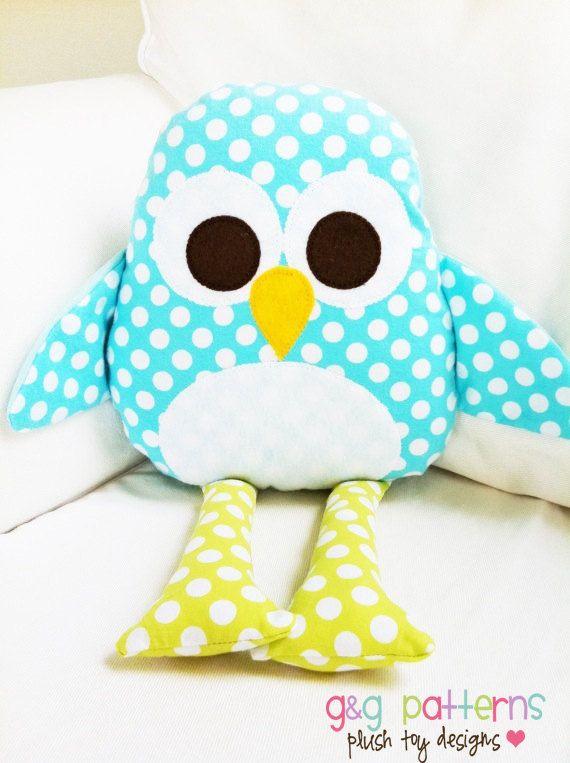 Patron de couture de jouet Penguin motif PDF par GandGPatterns