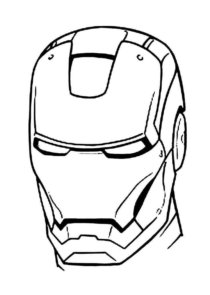 iron man mask coloring pages for kids printable free