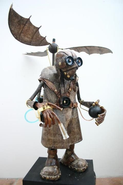 Charming steam punk- I'm not always a fan of steampunk, but this guy is cute