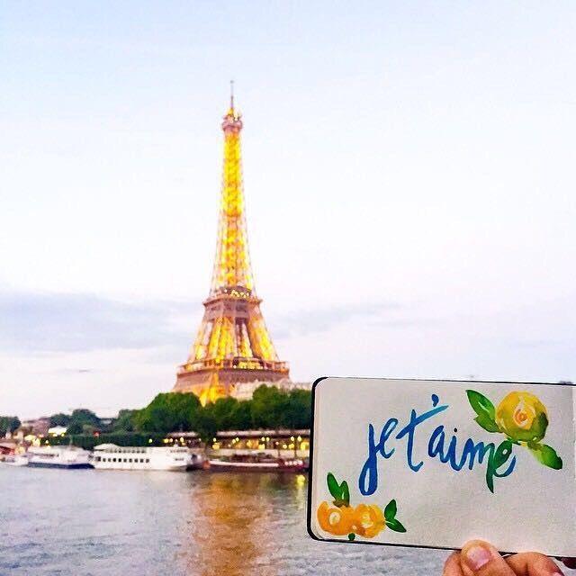 Hoy día celebró mi 4to aniversario de matrimonio y me trajo a la memoria nuestra luna de miel en Paris donde hice esta pequeña pintura. Si pensaba que en ese tiempo amaba mucho a mi esposo, puedo hoy decir que cada día le amo más y más ❤️