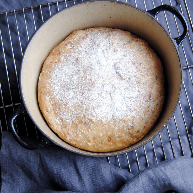 Recept på enkelt grytbröd lagat i kastrull