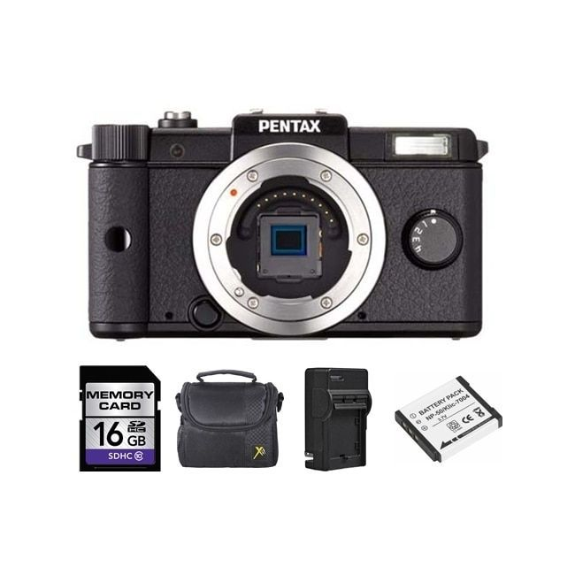 Pentax Q 12.4MP Digital SLR Camera Bundle
