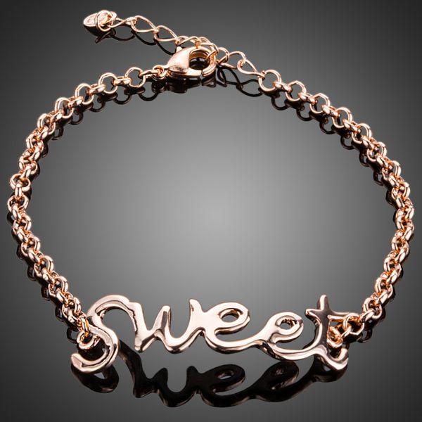 Unique Design Rose Gold Plated Bracelet