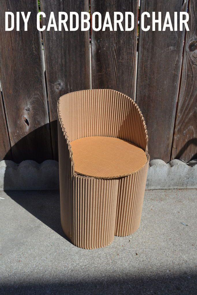 Childsized Cardboard Chair  Cardboard  Cardboard chair