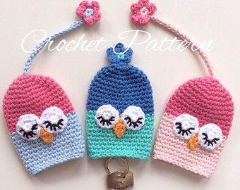 Crochet Pattern keyrings sheep ladybird owl INSTANT DOWNLOAD