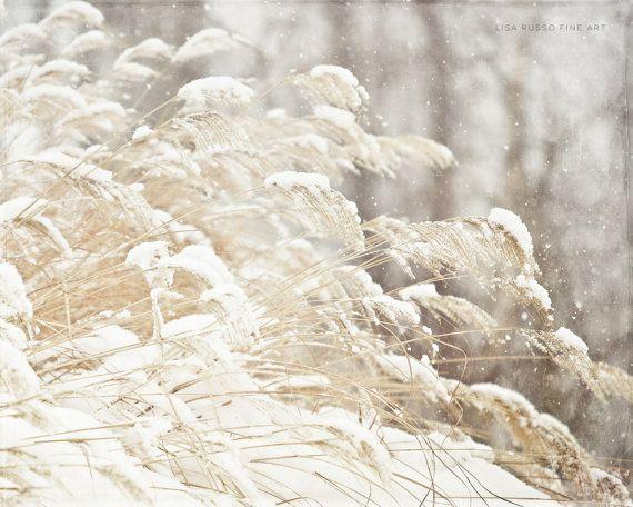 Sneeuw afdrukken of Canvas Art Winter wit door LisaRussoFineArt