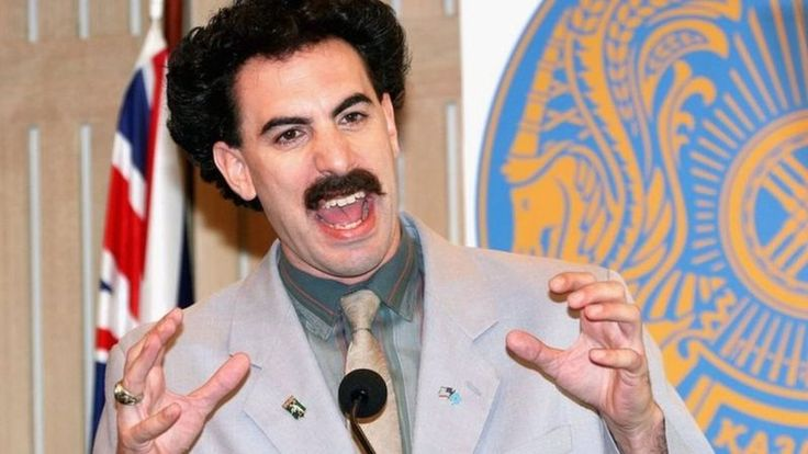 Actor Sacha Baron Cohen appears in character as Kazakh journalist Borat Sagdiyev