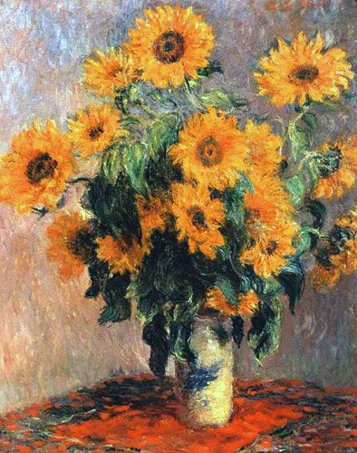 """""""Bouquet de soleils"""" 1880 de Claude Monet, Metropolitan Museum of Art, New York"""