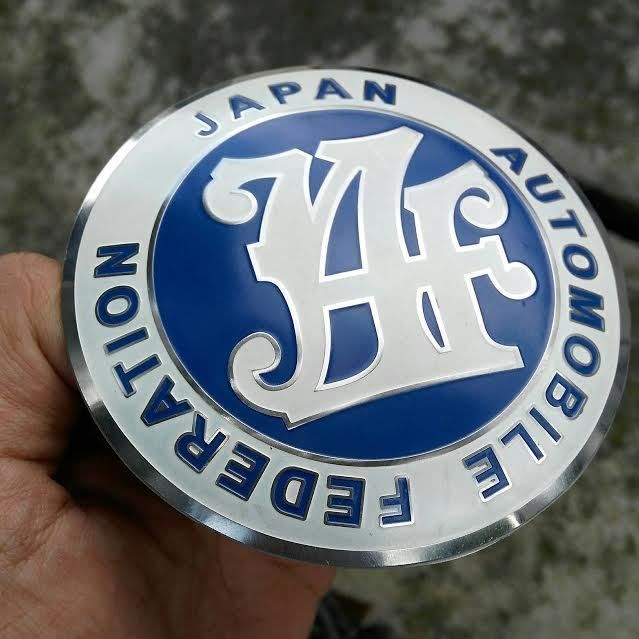 TRD JAPAN CLUB CAR BADGE TOYOTA Racing Development Performance JAF AUTOMOBILE