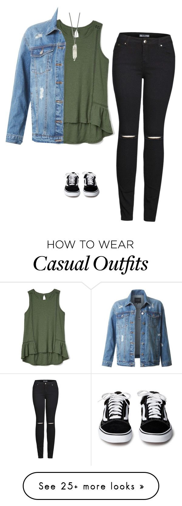 """Casual"" by meganthomsen on Polyvore featuring 2LUV, Gap and LE3NO"
