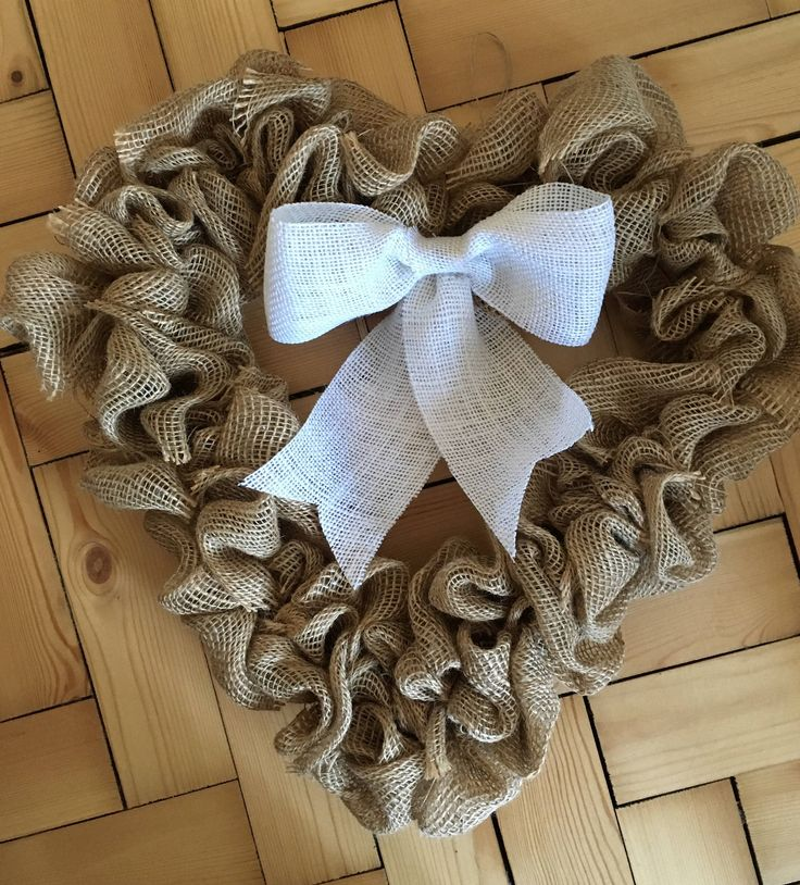 A personal favourite from my Etsy shop https://www.etsy.com/uk/listing/529444425/heart-burlap-handmade-wreath