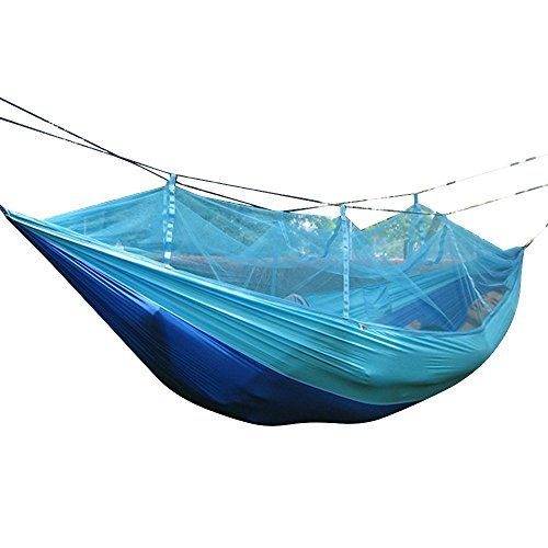 Favorite Camping Gear  | Camping Hammock with Mosquito Net Portable Lightweight Parachute Nylon Fabric Multifunctional Indoor Outdoor Hammocks for BackpackingBackyardSky BlueCamping Hammock with Mosquito Net Portable Lightweight Parachute Nylon Fabric Multifunctional Indoor Outdoor Hammocks for BackpackingBackyardSky Blue * Click image to review more details. Note:It is Affiliate Link to Amazon.