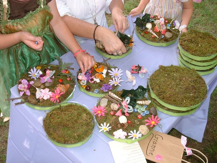 Fairy Garden activity, so fun! Can use moss, flowers, butterflies, ribbon from #dollartree