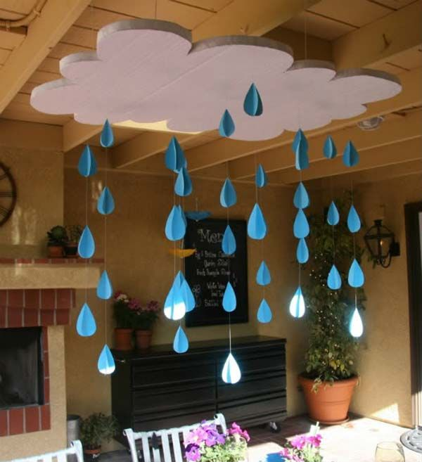 Cloud and Rains | Fascinating Hanging Decorations That Will Light Up Your Living Space
