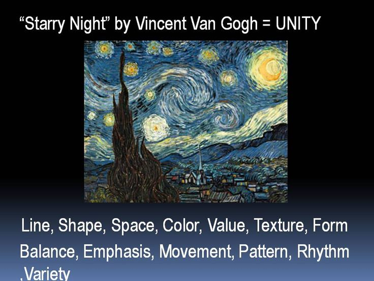 visual elements starry night Moma | the starry night  van gogh found his place in art and produced  emotional, visually arresting paintings over the course of a career that lasted only  a.