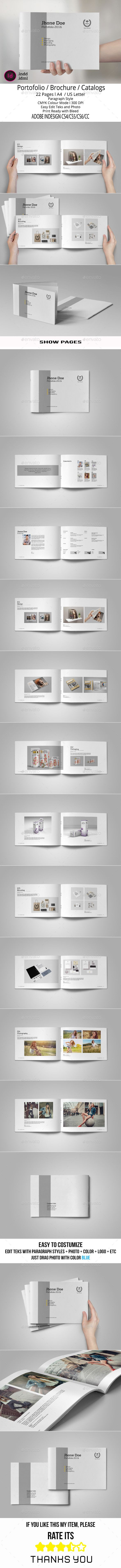 Portfolio Brochure Template #design Download: http://graphicriver.net/item/portfolio-brochure-template/11445605?ref=ksioks