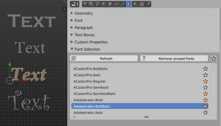 """Add-on: Easy Font Management with """"Font Selector"""""""