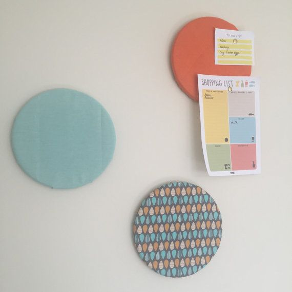 Fabric Pinboard /Message Board by MerakiBottegaCo on Etsy