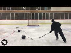 Push/pull and shoot - Hockey Drills - F.E. HOCKEY - YouTube
