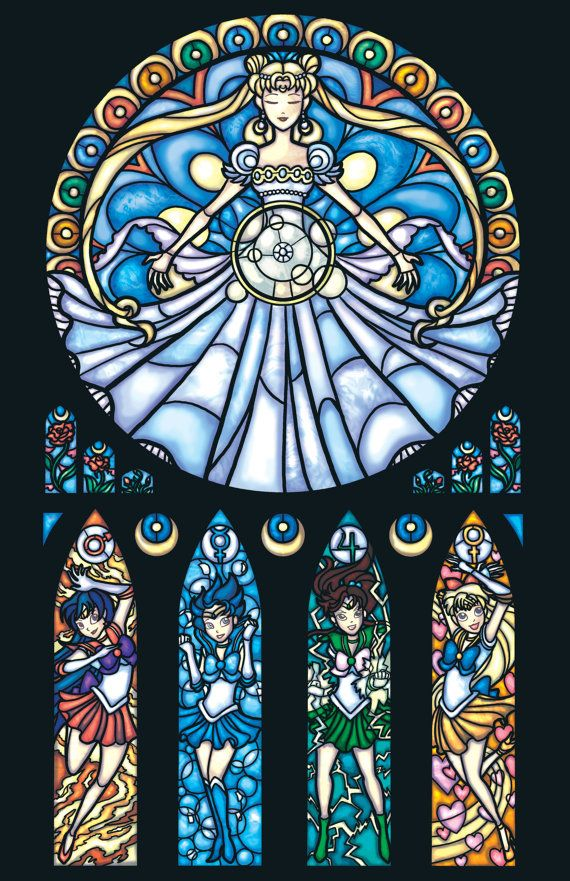 Marissa Garner Illustrates Spider-Man, Sailor Moon and More Stained Glass Style [Art]