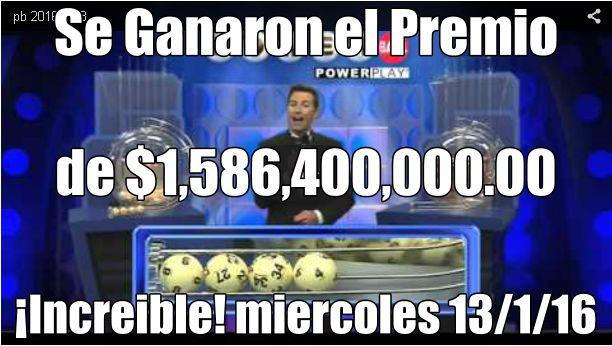 Ver video resultados 13/1/2016. http://wwwelcafedeoscar.blogspot.com/2016/01/video-resultados-loteria-powerball.html