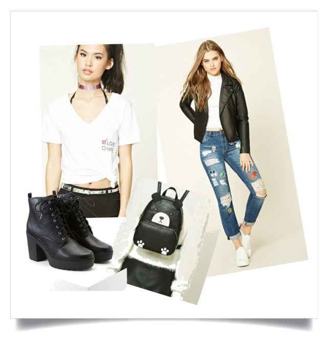 """Untitled #76"" by rosiepotter on Polyvore featuring Forever 21"