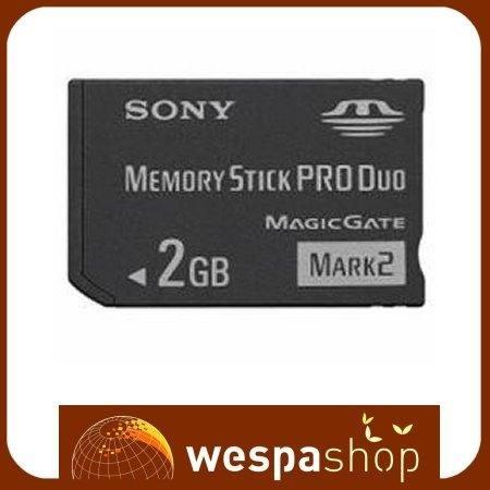 Cartao Memoria Sony Memory Stick Pro Duo 2gb Mark 2 - R$ 39,90