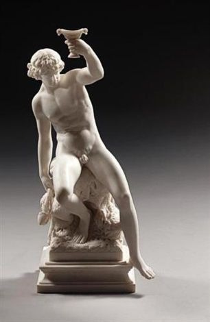 Seated Bacchus , 1879 by Percival Ball  (British, 1844–1900)