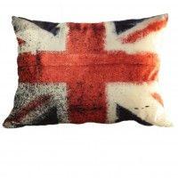 Бархатная подушка Британский флаг. Размер 40х50см. Цена 1800р.