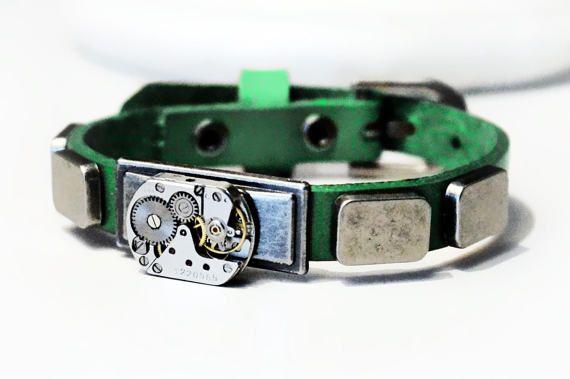 Стимпанк БДСМ кожаный браслет мужской натуральная от SteampunkBDSM
