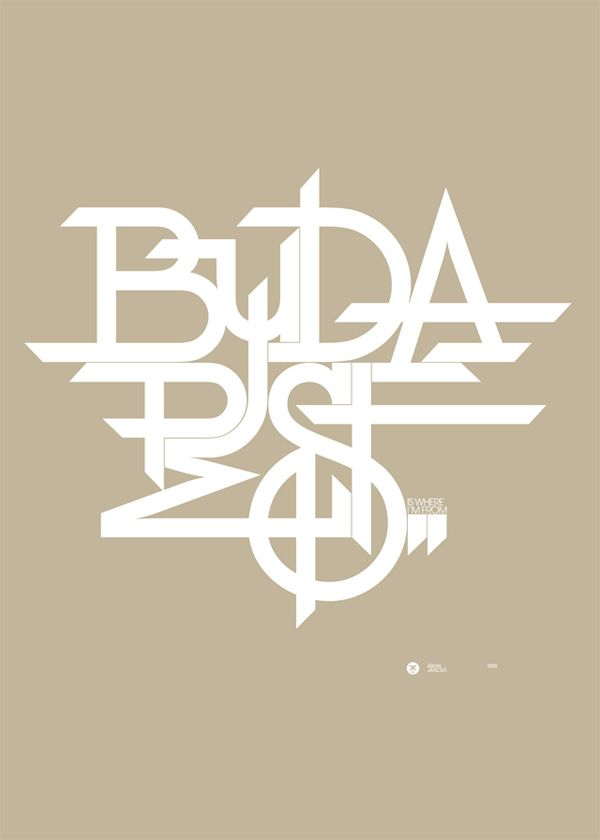 World cities honored in typography: Budapest