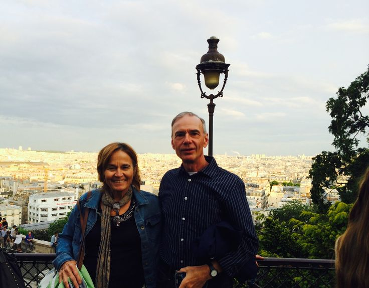 Brad and  I  on  the  hill  of  Montmartre  near  Sacre  Coeur  Church