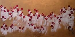 Naomi Crowther  www.naomicrowther.com  Poppies with Golden Sky
