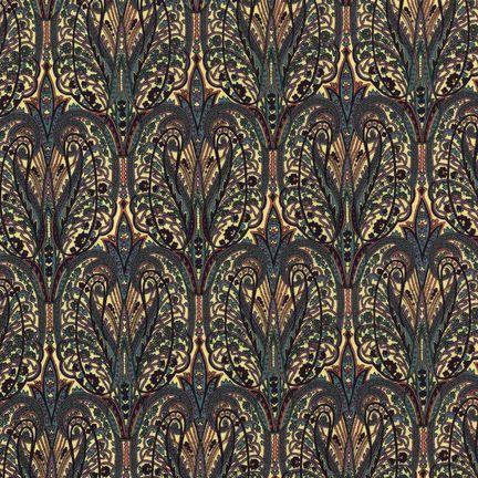 Robert Kaufman Fabrics: EG-4815-6 SPICE from Jardin Nouveau