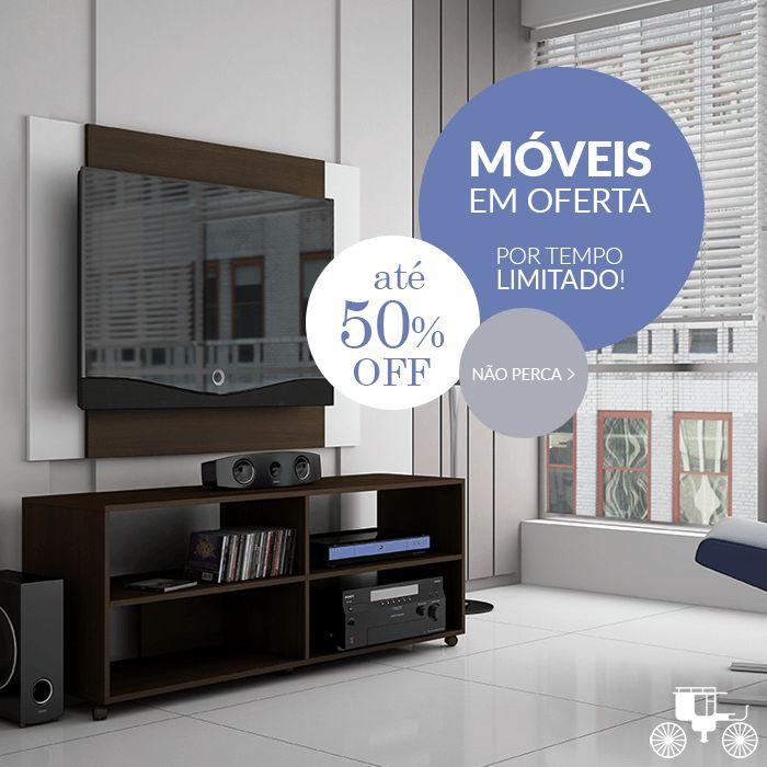 Aproveite a oferta de móveis da Carro de Mola e renove a mobília do seu lar! São diversos modelos com até 50% OFF! http://carrodemo.la/53c03