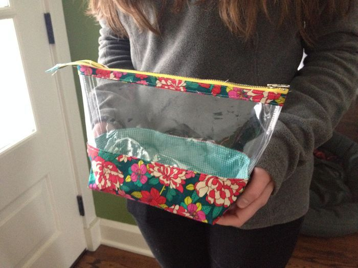 Zippered Knitting Project Bag Tutorial : See through open wide zippered pouch projects